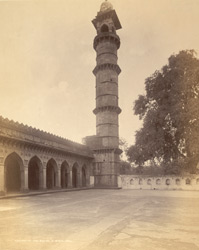 North minaret of the Bibi-ki-Masjid, Birhanpur, Nimar District